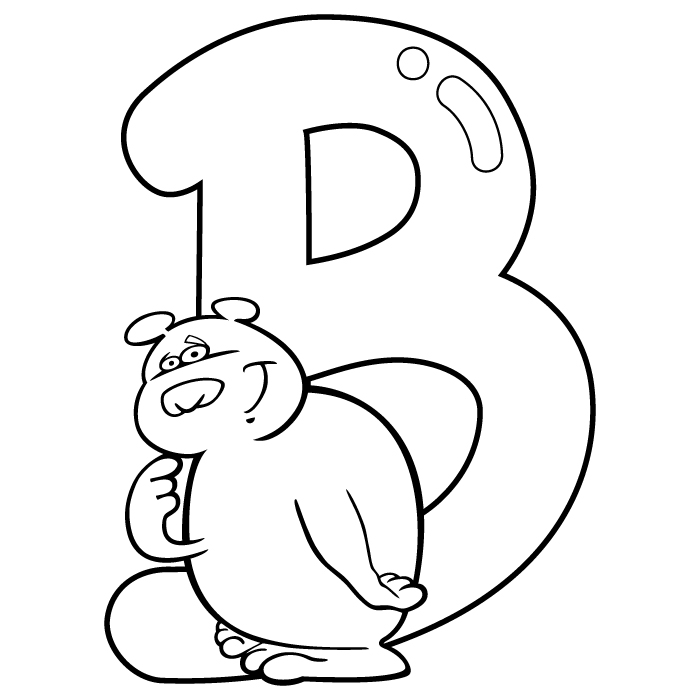Coloring Letter B