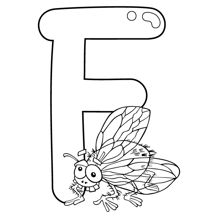 Coloring Letter F