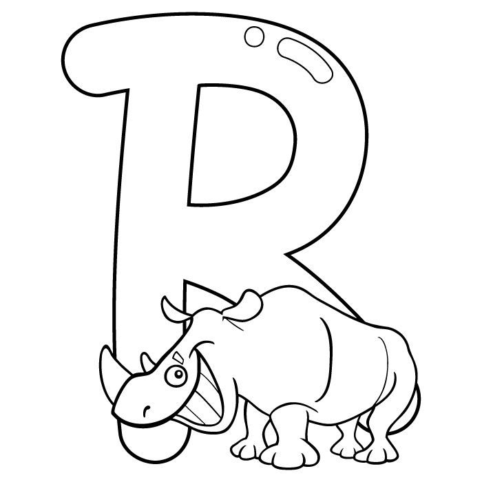 Coloring Letter R